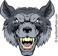 podły, wilk, maskotka