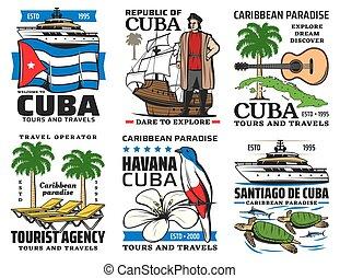 podróż, symbolika, objazdy, zwiedzanie, kuba, punkty orientacyjny