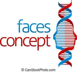 podwójny, dna, złudzenie, twarz, spirala, pojęcie