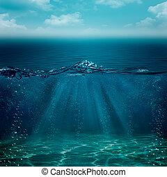 podwodny, abstrakcyjny, tła, twój, projektować