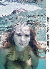 podwodny, kobieta