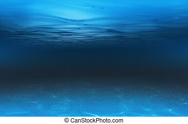 podwodny, morze, albo, tło, ocean