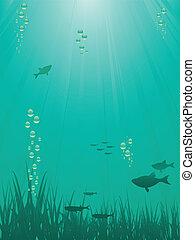 podwodny, sence