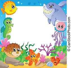 podwodny, ułożyć, 2, zwierzęta