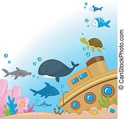 podwodny, zwierzęta