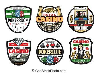 pogrzebacz kości do gry, kasyno, bilety, igrzyska, hazard