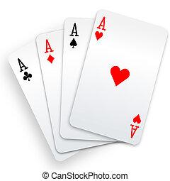 pogrzebacz, zwycięzca, ręka, cztery asa, bilety, interpretacja