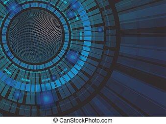 pojęcie, abstrakcyjny, ilustracja, wektor, tło, technologia