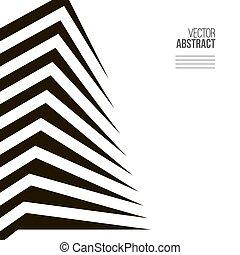 pojęcie, abstrakcyjny, nowoczesny, tło., czarnoskóry, architektura, biały, budowa.