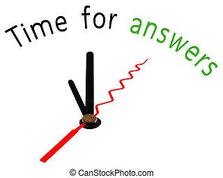 pojęcie, czas, odpowiedzi, zegar