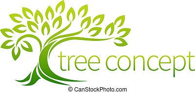 pojęcie, drzewo, ikona