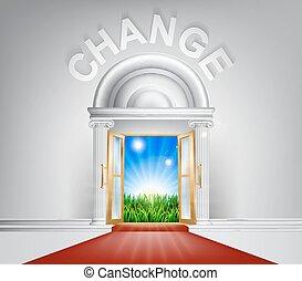pojęcie, drzwi, zmiana