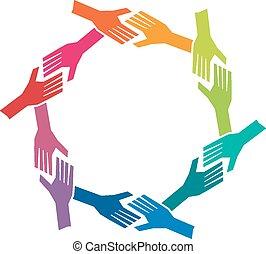 pojęcie, grupa, och, ludzie, teamwork, siła robocza, circle.