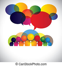 pojęcie, ludzie, rozmaity, członki, rasowy, personel, kierownictwo, &, media, -, również, deska, vector., biały, widać, sieć, barwny, towarzystwo, pracownicy, konferencja, kołnierz, multi, graficzny, towarzyski, egzekutorzy