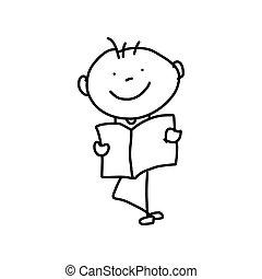 pojęcie, matczyny, rysunek, ręka, rysunek, dzień, szczęśliwy