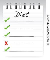 pojęcie, projektować, dieta, ilustracja