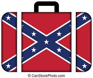 pojęcie, przewóz, flag., podróż, sprzymierzać się, walizka, ikona
