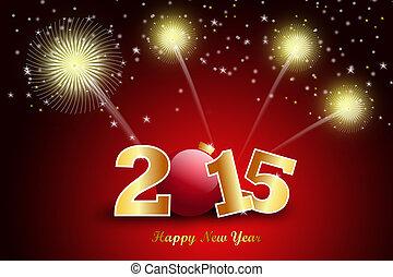 pojęcie, rok, 2015, nowy, celebrowanie, szczęśliwy