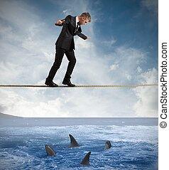 pojęcie, ryzyko, handlowy
