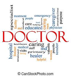 pojęcie, słowo, chmura, doktor