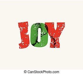 pojęcie, słowo, ostemplowany, radość, ilustracja, sztuka