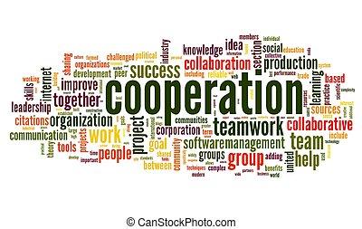pojęcie, słowo, skuwka, kooperacja, biały zasępiają się