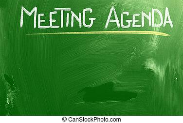 pojęcie, spotkanie porządek dzienny