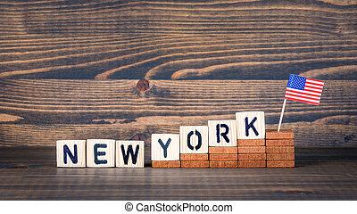 pojęcie, states., imigracja, zjednoczony, ekonomiczny, polityka, nowy york