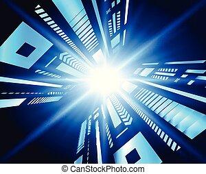 pojęcie, tło., abstrakcyjny, technologia, cyfrowy