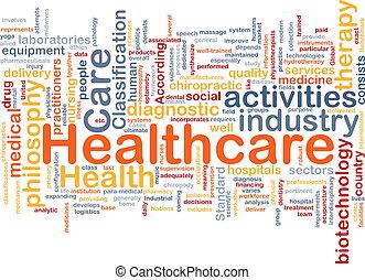 pojęcie, tło, healthcare