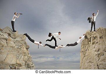 pojęcie, teamwork, powodzenie