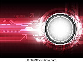 pojęcie, technologia, tło, cyfrowy