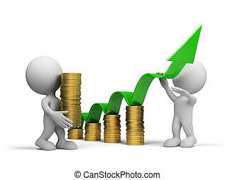 pojęcie, wzrost, handlowy