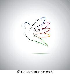 pokój, gołębica