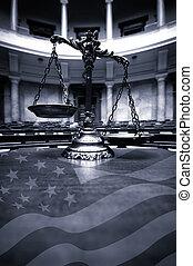 pokój sędziów, sprawiedliwość, skalpy, dekoracyjny