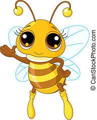 pokaz, sprytny, pszczoła