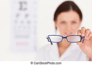 pokaz, zamazany, optyk, okulary