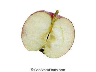 pokrojony, jabłko