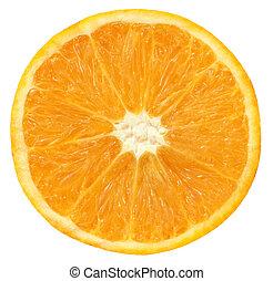 pokrojony, pomarańcza