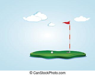 pole, golf