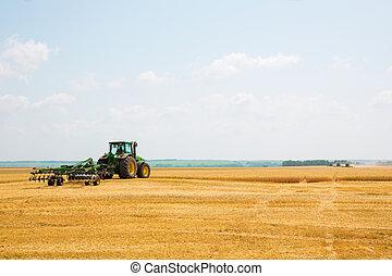 pole, rolnik, traktor