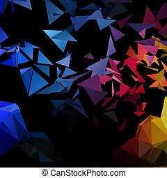 poligonal-art, wektor, wybuch, triangle, tło