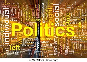 polityka, jarzący się, pojęcie, tło, towarzyski