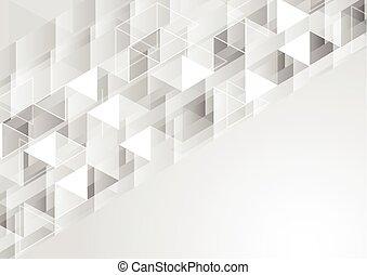 polygonal, geometryczny, szary, tło, pixelated