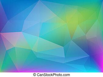 polygonal, lekki, abstrakcyjny, barwny