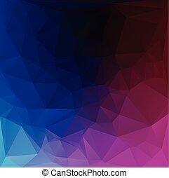 polygonal, wektor, tło, ciemny, szablony, mozaika, żywy, twórczy, kolor, handlowy, projektować, ilustracja
