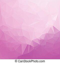 polygonal, wektor, tło, różowy, szablony, mozaika, żywy, kolor, handlowy, projektować, ilustracja