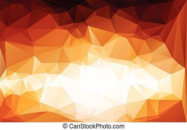 polygonal, wektor, tło, szablony, mozaika, żywy, czerwony, handlowy, projektować, ilustracja