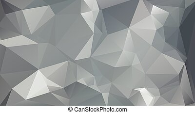 polygonal, wektor, tło, szary, szablony, mozaika, kolor, handlowy, projektować, ilustracja