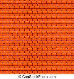 pomarańcza, ściana, cegła, seamless, struktura